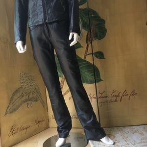 Roberto Cavalli 100% Black leather pants New small